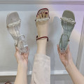 Sandals 35 36 37 38 39 40 Beige green red PU Youaisha Barefoot Thick heel Middle heel (3-5cm) Summer 2021 Flat buckle Korean version Solid color Adhesive shoes Youth (18-40 years old) rubber daily Back space Thick heel Low Gang Lateral space PU PU RGYHRTGYREGF Roman shoes Shaving Women's