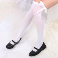Socks / base socks / silk socks / leg socks female Other / other Average size White, black 1 pair routine High tube summer Sweet Solid color velvet Leg shaping lace