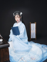 National costume / stage costume Summer 2020 Delivery time is 15-45 days for shangru (Jianshi blue), 15-45 days for baidieskirt (Jianshi blue), 15-45 days for shangru (shangengzi), and 15-45 days for baidieskirt (shangengzi) XS,S,M,L,XL 18-25 years old