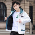 Jacket Kanihao Youth fashion White gray green black M L XL 3XL XXL thin Self cultivation Other leisure spring Polyester 100% Long sleeves Wear out Hood tide teenagers routine Zipper placket Cloth hem No iron treatment Closing sleeve other Spring 2021 Side seam pocket Pure e-commerce (online only)