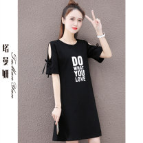 T-shirt Red, black, white M L XL 2XL Summer 2021 Short sleeve Crew neck easy Medium length routine commute cotton 86% (inclusive) -95% (inclusive) 25-29 years old Korean version youth letter Tamanyan Print stitching Cotton 95.1% polyurethane elastic fiber (spandex) 4.9% Pure e-commerce (online only)