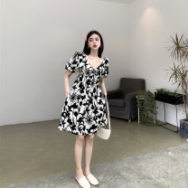 Pocket towel Black and white / s black and white / m black and white / L black and white / XL Broken flowers LSK-1219- Lai Shiku Summer 2021