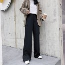 Suit pants / suit pants S M L XL 2XL 3XL 4XL 5XL black Summer 2020 Straight cylinder High waist trousers routine Self made pictures 25-29 years old Aido cat 31% (inclusive) - 50% (inclusive) lady polyester fiber Other 100.00% Cotton blended fabric Korean version