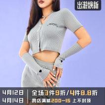 Fashion suit Summer 2020 S,M,L Grey / spot, grey / presale AGAM20068 81% (inclusive) - 90% (inclusive) cotton