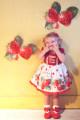 Dress Strawberry skirt female Other / other 73cm, 80cm, 90cm, 100cm, 110cm, 120cm, 130cm, sold pan Cotton 100% summer princess cotton 12 months, 6 months, 9 months, 18 months, 2 years old, 3 years old, 4 years old, 5 years old, 6 years old