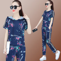 Casual suit Summer 2020 Color blue royal blue black white M L XL XXL XXXL Over 35 years old LM905 Unusual 96% and above polyester fiber Polyester 100% Pure e-commerce (online only)
