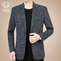 man 's suit Luo Xichi Fashion City thin 170/M 175/L 180/XL 185/XXL 190/XXXL LXCD-69046 Polyester 90% viscose 10% Spring of 2019 Self cultivation Double breasted Other leisure No slits Pure e-commerce (online only) middle age Long sleeves spring routine Business Casual Casual clothes Round hem