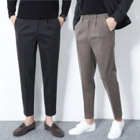 Casual pants Others Youth fashion Khaki, black, grey 36,35,34,33,32,31,30,29,28, OEM, quality assurance, size problem, please contact customer service routine Ninth pants Other leisure Self cultivation Micro bomb autumn teenagers Exquisite Korean style 2018 middle-waisted Little feet Tapered pants
