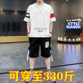 Leisure sports suit summer M. L, XL, 2XL, 3XL, 4XL {recommend 195-210kg}, 5XL {recommend 210-230kg}, 6xl {recommend 230-250kg}, 7XL {recommend 250-275kg}, 8xl {recommend 275-300kg}, 9xl {recommend 300-330kg}, {pay attention to free freight insurance in stores} Short sleeve Other / other Pant T-shirt
