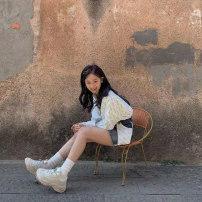 skirt Autumn of 2019 S M Dark blue Short skirt Natural waist ROAC10J20114 More than 95% Alter cotton Cotton 100%