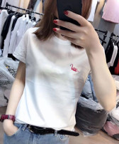 T-shirt White, black, pink S M L XL 2XL Summer 2020 Short sleeve Crew neck Self cultivation Regular routine commute cotton 86% (inclusive) -95% (inclusive) 18-24 years old Korean version youth Animal design Ninel Cotton 95% polyurethane elastic fiber (spandex) 5% Pure e-commerce (online only)