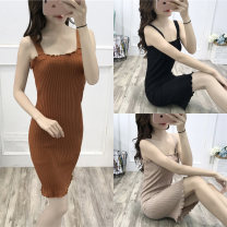 Vest sling Spring of 2018 Khaki apricot black white Average size singleton  Medium length Self cultivation camisole Solid color 18-24 years old 96% and above other MDL2327 Mudiela thread Other 100% Pure e-commerce (online only)