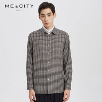 shirt Fashion City Me&City 165/88A 170/92A 175/96A 180/100A 185/104B Coffee color group routine stand collar Long sleeves standard Other leisure winter youth Cotton 100% Business Casual 2018 Winter of 2018 cotton More than 95%