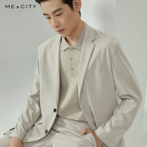 Leisure suit Double breasted routine go to work 165/88A 170/92A 175/96A 180/100A 185/104B Business gentleman No slits Huasha apricot Huasha grey Huasha apricot presale 1 Huasha grey presale 1 easy Solid color Me&City youth Four seasons Long sleeves routine Digging bags with lids other Summer 2021