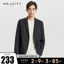 man 's suit It's black Me&City Business gentleman routine 165/88A 170/92A 175/96A 180/100A 185/104B Spring of 2018 standard Double breasted go to work No slits youth Long sleeves spring routine Business Casual Solid color
