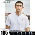 Polo shirt Me&City Fashion City thin Bright white space blue 180/100A 165/88A 170/92A 175/96A 185/104B 190/108B standard Other leisure summer Short sleeve Business Casual routine youth Cotton 100% cotton other Summer of 2019 Same model in shopping mall (sold online and offline) More than 95%