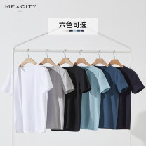 T-shirt Fashion City Bleached black light grey forget grass blue iron blue night blue black routine 180/100A 165/88A 170/92A 175/96A 185/104B 190/108B Me&City Short sleeve Crew neck standard Other leisure spring Cotton 95% polyurethane elastic fiber (spandex) 5% youth routine Business Casual other