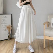 Casual pants White, black, blue S M L XL Spring 2021 Ninth pants Wide leg pants High waist commute routine 926# Sedothex Korean version Polyester 100% Pure e-commerce (online only)
