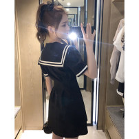T-shirt black S M L XL Summer 2020 Short sleeve Doll Collar Self cultivation have cash less than that is registered in the accounts routine commute other 96% and above 18-24 years old Korean version originality Solid color Fayiqi IABJ24250 Other 100% Pure e-commerce (online only)