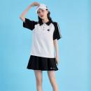 skirt Spring 2021 M,L,XL,2XL White, blue Short skirt Pleated skirt More than 95% CHAMPION cotton