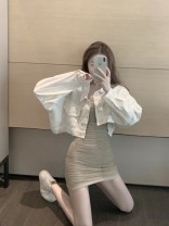 Dress Spring 2021 Apricot XS S M L Short skirt singleton  Sleeveless commute One word collar High waist Solid color Socket One pace skirt other camisole 18-24 years old Type A Qingqing leisurely Korean version 11f91vK More than 95% other other New polyester fiber 100.00% Pure e-commerce (online only)