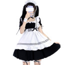 Cosplay women's wear suit goods in stock Over 14 years old Black and white six piece set Animation, original, film and television, games S,M,L,XL,XXL,XXXL Ideal Yingfei Japan Lovely wind, Maid Dress, Lolita Ideal Yingfei