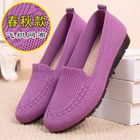 Low top shoes 35 36 37 38 39 40 41 Round head cloth Flat bottom Flat heel (1cm or less) Shallow mouth cloth Summer 2020 Trochanter leisure time Injection pressure shoes Middle age (40-60 years old) Solid color polyurethane Single shoes Shallow mouth cloth leisure time Pure e-commerce (online only)