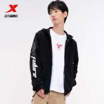 Sports jacket / jacket XTEP / Tebu male 2XL 3XL s (adult) m (adult) l (adult) XL (adult) 4XL Black medium grey powder Winter 2020 yes