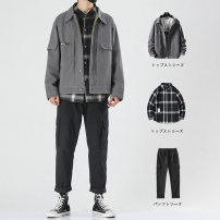 Jacket Zapai Youth fashion M L XL 2XL 3XL 4XL routine easy Other leisure spring djs ds488+kxp g06+gzk001 Cotton 100% Long sleeves Wear out Lapel tide teenagers routine Cloth hem No iron treatment Loose cuff other Spring 2020 More than two bags) Digging bags with lids Pure e-commerce (online only)