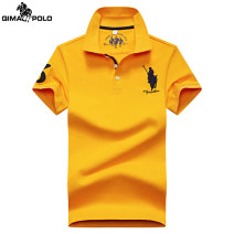 T-shirt Fashion City Orange yellow red gray white fluorescent green black dark blue purple routine M L XL 2XL 3XL Qi Ma Paolo Short sleeve Lapel standard Other leisure summer T20211358655 Cotton 95% polyurethane elastic fiber (spandex) 5% youth routine Business Casual Cotton wool Spring 2021 cotton
