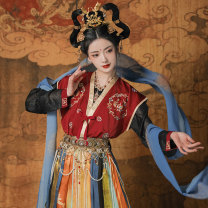 Hanfu 96% and above Tangbeizi - red - May 25 Black T-Shirt - May 25 orange blue lower skirt - without accessories - May 25 tangbeizi - yellow - April 30 Beige T-SHIRT - April 30 orange yellow lower skirt - without accessories - April 30 blue drape - May 25 green drape - April 30 S M L XL average size