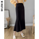 skirt Autumn 2020 One size fits all Grey black Khaki apricot Mid length dress commute High waist skirt Solid color Type A 18-24 years old MF8177 More than 95% knitting Famous model (clothing) other Korean version Other 100% Pure e-commerce (online only)