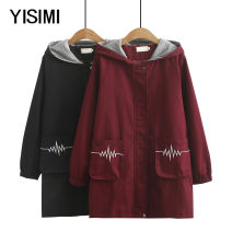 Middle aged and old women's wear Winter of 2019 Black jujube XL 2XL 3XL 4XL commute Windbreaker easy singleton  Cardigan thick Hood Medium length routine Y19389 Isimi other Other 100% 96% and above Pure e-commerce (online only) zipper Simplicity