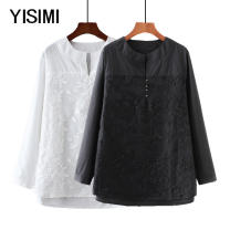 Middle aged and old women's wear Autumn of 2018 Black and white XL 2XL 3XL 4XL commute easy singleton  other Socket moderate routine routine Isimi other Other 100% 96% and above Pure e-commerce (online only) Simplicity