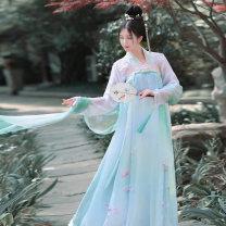 National costume / stage costume Summer of 2018 Shangru. One, Luofu Mei 29. Shangru. One, xiaskirt. One, Luofu Mei 29. Xiaskirt. One 155,160,165,170 Breast length Ru skirt - Luo Fu Mei 28 Like a dream