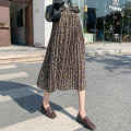 skirt Spring 2020 S M L XL Mid length dress commute High waist Pleated skirt Decor Type A 8001# More than 95% Chiffon Love for Immortals polyester fiber printing Retro Polyester 100% Pure e-commerce (online only)