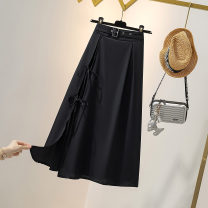 skirt Summer 2020 S M L XL 2XL Mid length dress commute High waist A-line skirt Solid color Type A 3011 spot More than 95% Love for Immortals polyester fiber Korean version Polyester 100% Pure e-commerce (online only)