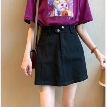 skirt Spring 2021 S M L XL White, black, apricot Short skirt commute High waist A-line skirt Solid color Type A 18-24 years old AK-4-D216-7005 51% (inclusive) - 70% (inclusive) other Amiluck polyester fiber zipper Korean version Polyester 65% polyacrylonitrile 35% Pure e-commerce (online only)