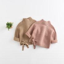 Sweater / sweater 80cm 90cm 100cm 110cm 120cm cotton neutral Khaki Pink You rabbit Beibei leisure time No model Socket routine Crew neck nothing Ordinary wool Solid color Cotton 95% other 5% CSMY Class A Long sleeves Autumn of 2018 spring and autumn