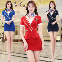 National costume / stage costume Spring of 2019 Blue Navy Red S M L XL XXL XXXL QS6466 Beautiful clothes and water Polyethylene terephthalate (PET) 95% polyurethane elastic fiber (spandex) 5% Pure e-commerce (online only)