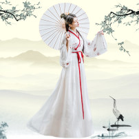 National costume / stage costume Summer of 2019 Hanfu S M L XL QS7186 Beautiful clothes and water 18-25 years old Polyethylene terephthalate (PET) 95% polyurethane elastic fiber (spandex) 5% polyester fiber Pure e-commerce (online only)