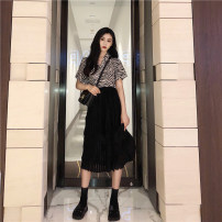 Fashion suit Spring of 2019 S M L Zebra shirt black skirt zebra shirt + black skirt 18-25 years old BEIHONG AA587 Other 100% Pure e-commerce (online only)