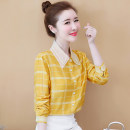 Lace / Chiffon Autumn of 2019 S M L XL 2XL Long sleeves commute Cardigan singleton  Self cultivation Regular Polo collar lattice shirt sleeve 25-29 years old New partner Patchwork lace Korean version Other 100.00% Pure e-commerce (online only)