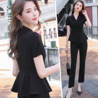 Professional dress suit S M L XL XXL XXXL 4XL White suit black suit white suit + skirt black suit + skirt white suit + trousers black suit + trousers white suit + trousers + skirt black suit + trousers + skirt Spring 2021 Short sleeve YMF-XN9836 Coat other styles Suit skirt 25-35 years old