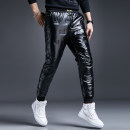 Down pants Kawati Black Silver 30 31 32 33 34 35 36 38 40 29 Youth fashion trousers Wear out More than 90% white duck down leisure time youth 6BX-6810 tide Straight cylinder Animal pattern Polyester 100% Bright side Winter of 2019 winter Pure e-commerce (online only)