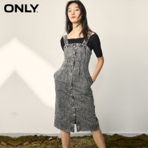 Dress Spring 2020 J08 light grey denim 155/76A/XS 160/80A/S 165/84A/M 170/88A/L 175/92A/XL Mid length dress singleton  Short sleeve street other High waist Solid color Single breasted other routine 18-24 years old ONLY Button More than 95% Denim cotton Cotton 100% Europe and America