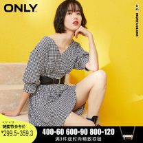 Dress Summer 2020 H11 Black & White Check S01 black 155/76A/XS 160/80A/S 165/84A/M 170/88A/L 175/92A/XL Mid length dress V-neck bishop sleeve 18-24 years old ONLY 81% (inclusive) - 90% (inclusive) polyester fiber Polyester fiber 90% polyurethane elastic fiber (spandex) 10%