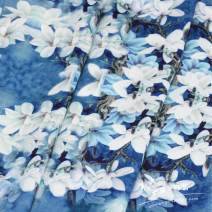 Fabric / fabric / handmade DIY fabric Others White magnolia flower fragrance cloud yarn half meter
