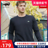 Sweater Youth fashion Cartelo / Cartelo crocodile Black red white gray Navy Black - thickened plush red - thickened Plush White - thickened Plush Navy - thickened Plush gray - thickened Plush 170/M 175/L 180/XL 185/XXL 190/XXXL Solid color Socket routine Crew neck autumn easy leisure time youth