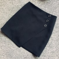skirt Spring 2017 XS,S,M,L,XL,2XL black Short skirt Versatile High waist A-line skirt Solid color Type A 25-29 years old 81% (inclusive) - 90% (inclusive) other other